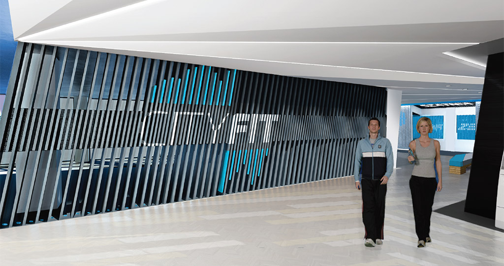 health club interior design