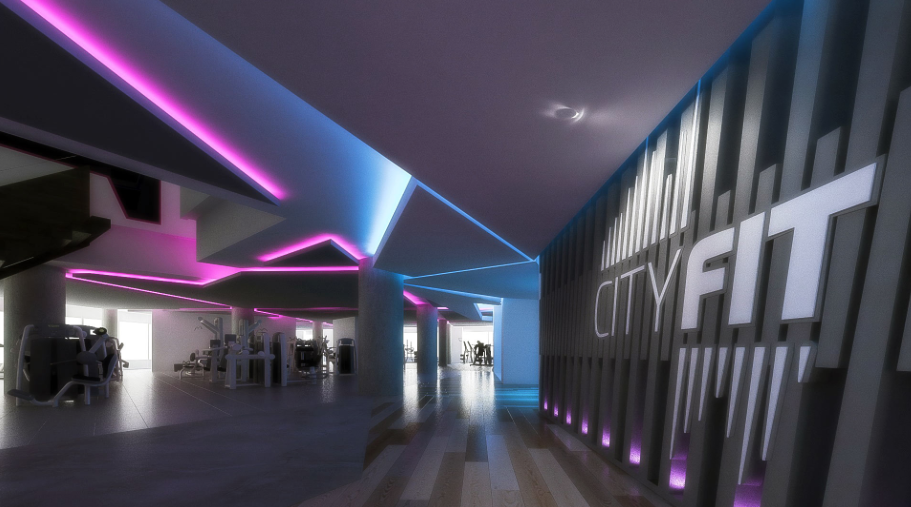 CityFit gym design by zynk design