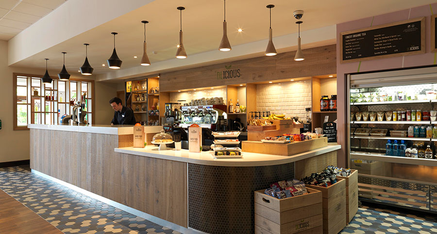 David Lloyd Gym Interior Design cafe bar