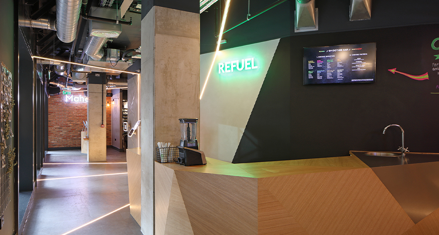 Boutique Spinning Studio Juice Bar Interior Design & Architecture