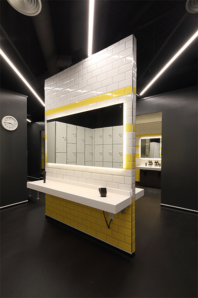 Spinning Studio Changing Room Interior Designers