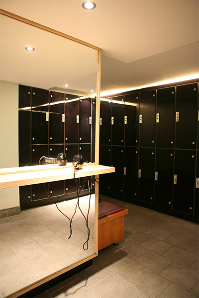 Gold's Gym Interiors gym vanity unit