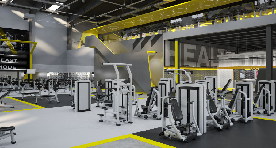 Horizon Fitness Gym Interior Design Cardio Zone