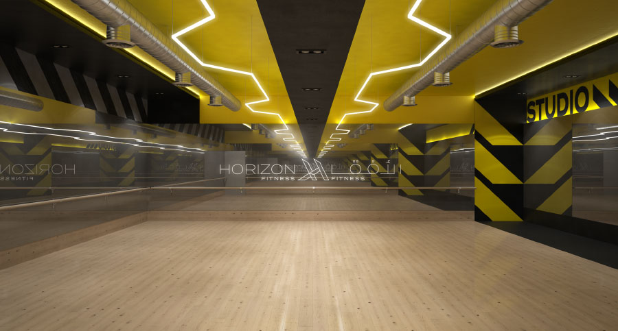 Horizon Gym, Fitness Centre & Health Club Hiit Studio Interior Design