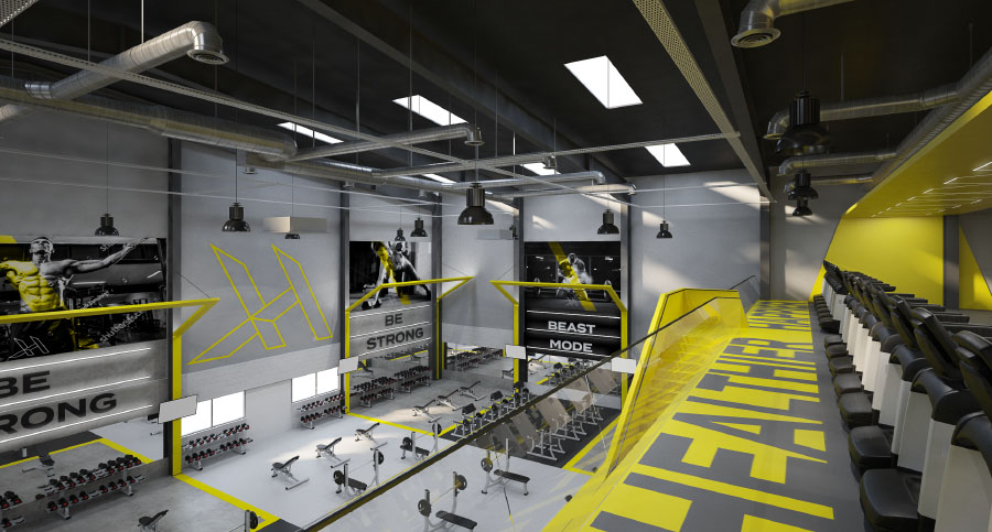 Gym, Fitness Centre & Health Club Resistance Zone Interior Design & Architecture consultants