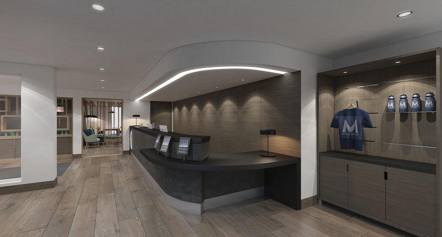 Fitness Centre & Health Club Reception Interior Designers