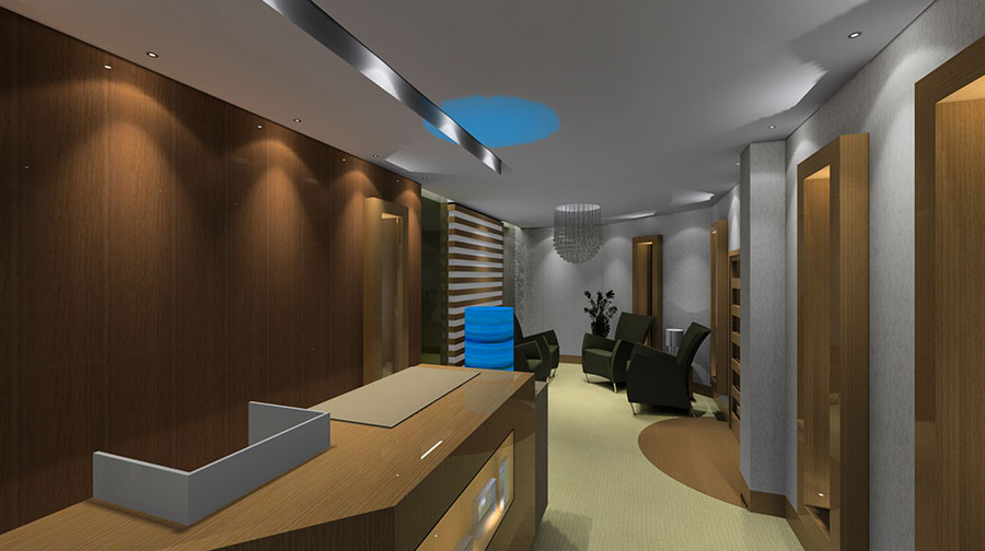 hotel spa reception area