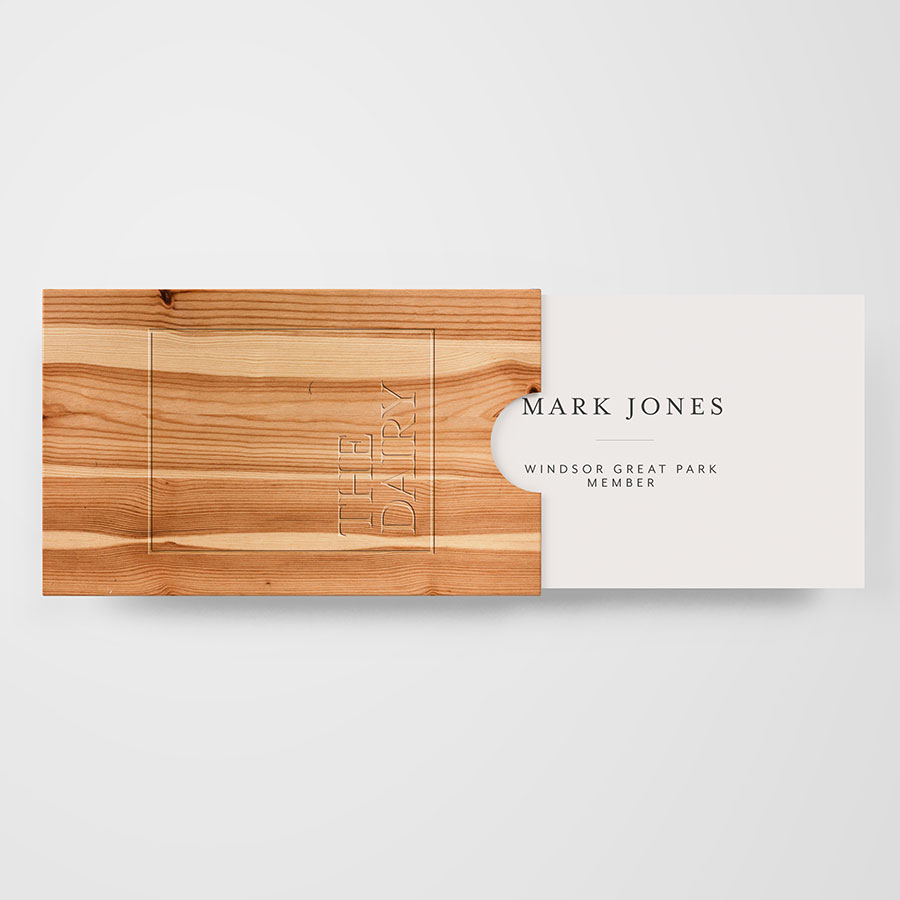 The Dairy Business Card Design
