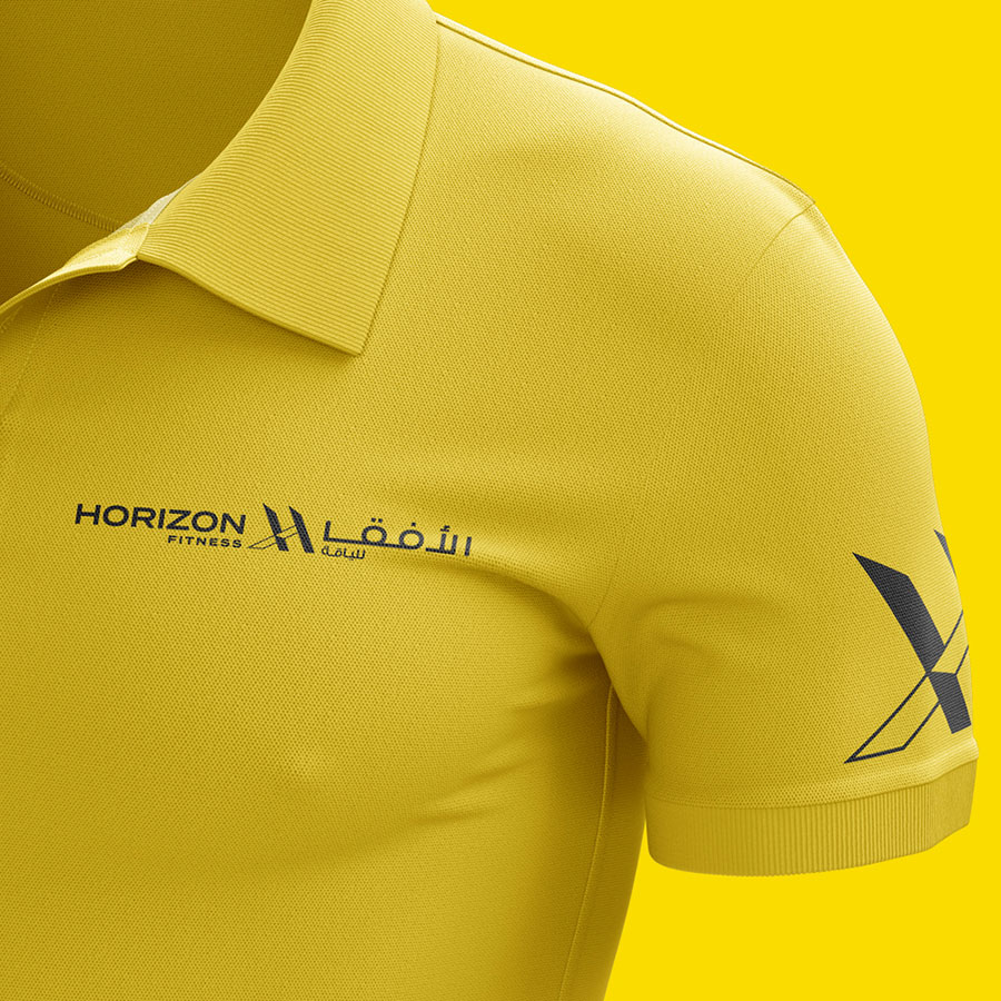 fitness club branded uniform design