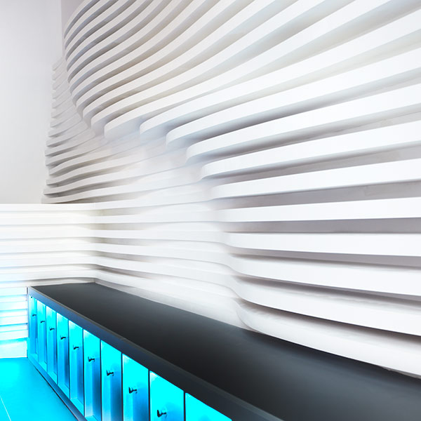 spa 3d wall interior design