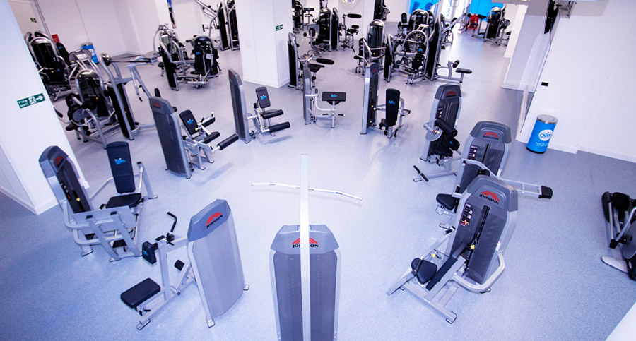 crossfit gym equipment in a circle