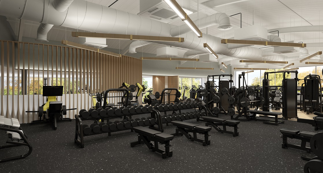 weight lifting area in gym