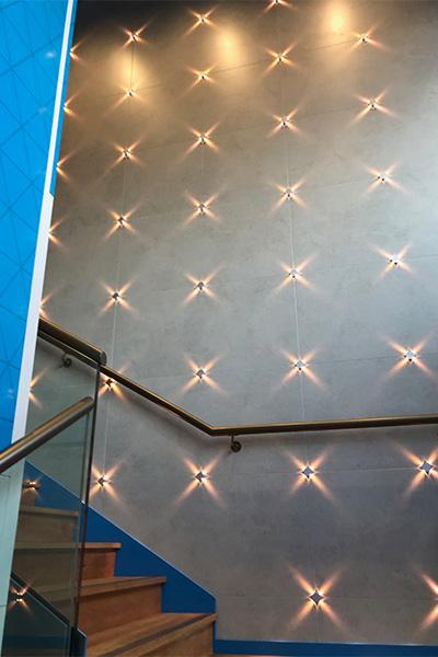 leisure club wall light design