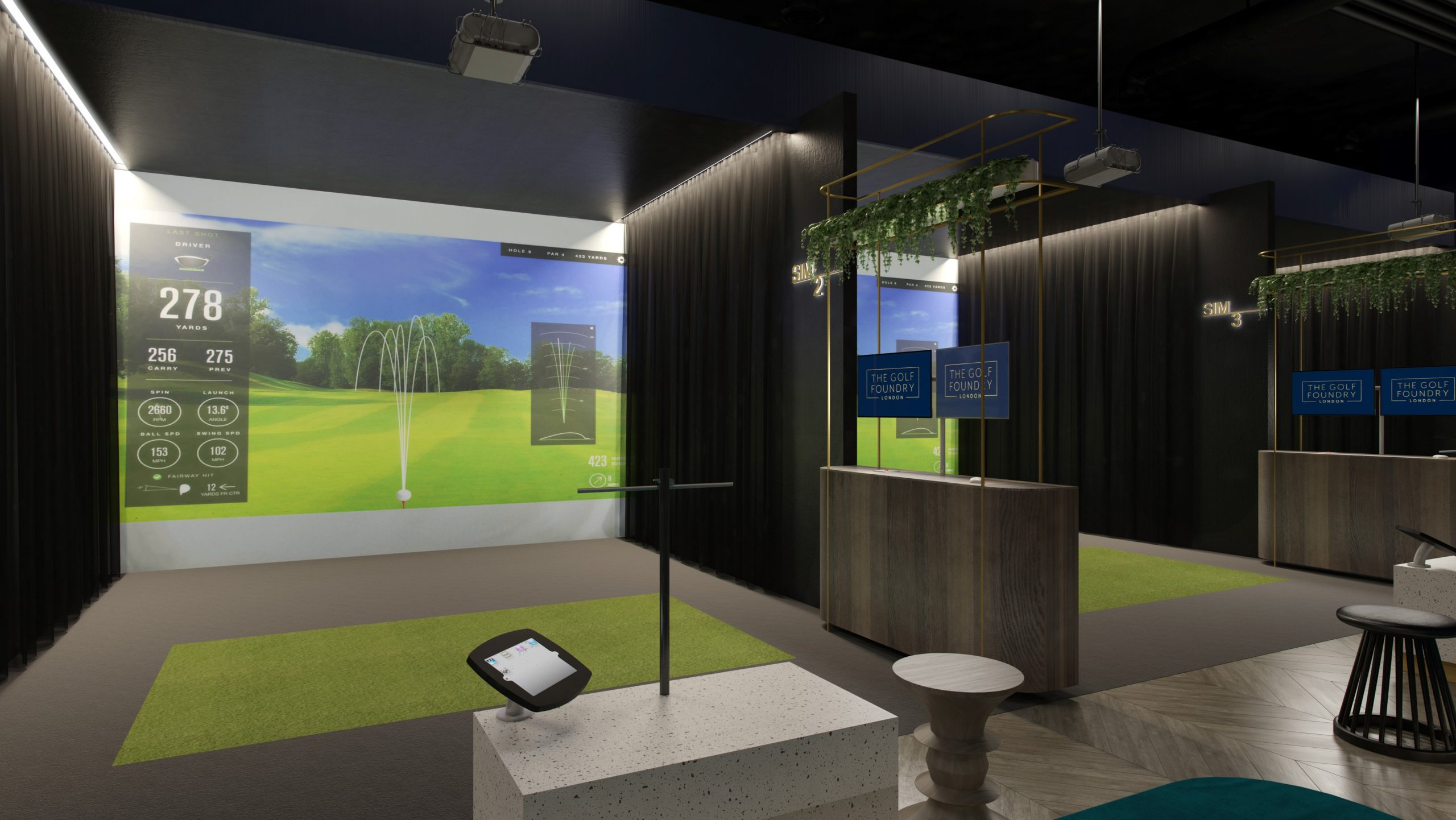 Indoor Golf concept design