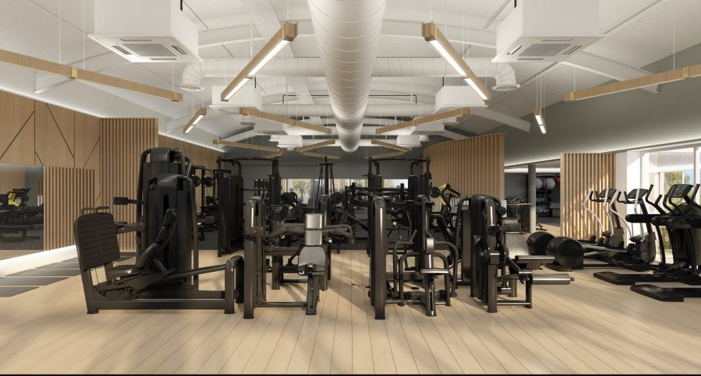 gym equipment in a newly designed gym